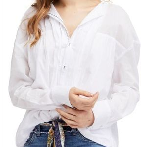 New Free People Breezy Hooded Shirt